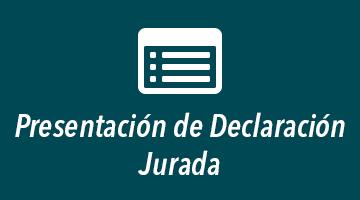 Presentación de Declaración Jurada